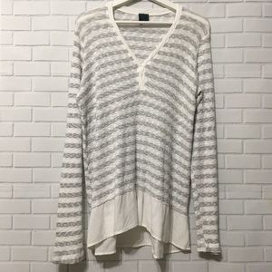 Left of Center Antho Striped Blouse Sz. M
